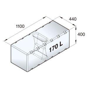 601096<br>Vetus 高密度ポリエチレン多目的タンク 170 L<br>(ATANK170)