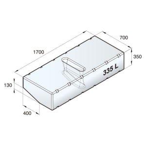 601098<br>Vetus 高密度ポリエチレン多目的タンク 335 L<br>(ATANK335)