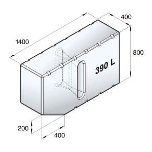 601099<br>Vetus 高密度ポリエチレン多目的タンク 390 L<br>(ATANK390)