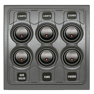 720124<br>BEP スイッチ1000シリーズ 12V6 out w/Fuse<br>(1000-6W)