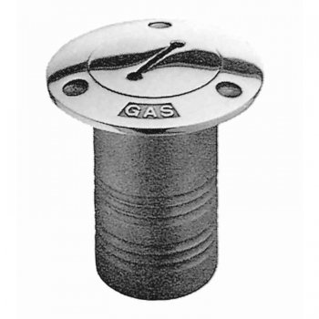 318399<br> デッキフィル GAS 注入口 51mm SUS316<br> (KH86411)