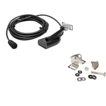 420079<br>Simrad トランサムマウント HDI スキマー振動子 455/800kHz 水温センサー付き 6m ケーブル<br> (000-10976-001)