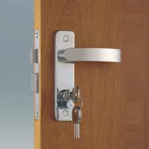 324333<br> ドアーラッチ &ロックMortise Mount 左OUT-148x38<br> (KH12403SLO)