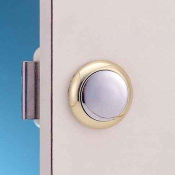 324216<br> プッシュボタンキャビネットロック (Cromed Brass)<br> (KH17781)