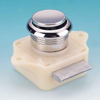 324217<br> プッシュボタンキャビネットロック (Cromed Plastic)<br> (KH17784)