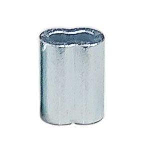112047<br>銅オーバルスリーブ Zinc Plated 6mm<br> (1/4