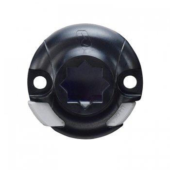 750143<br>Railblaza  StarPort デッキマウント Black <br>(スペーサー無し・ガスケット無し)