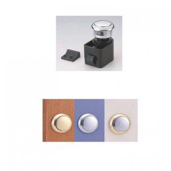 M-324337<br>セルフラッチプッシュボタンロック Crome Plating Plastic<br>(KH17884)