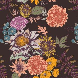 ATV-87200 Floral Glow Cocoa - Autumn Vibes コットン100%