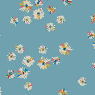 <img class='new_mark_img1' src='https://img.shop-pro.jp/img/new/icons3.gif' style='border:none;display:inline;margin:0px;padding:0px;width:auto;' />SKS-94301 Hazy Daisies Sky -Sun Kissed コットン100%
