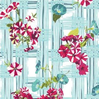 <img class='new_mark_img1' src='https://img.shop-pro.jp/img/new/icons3.gif' style='border:none;display:inline;margin:0px;padding:0px;width:auto;' />FSH-17408 Petunia Garden Treillage - Floralish コットン100%
