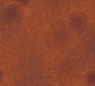 FE-503 Russet Orange -Floral Elements コットン100%