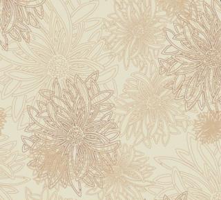FE-504 Sand -Floral Elements コットン100%