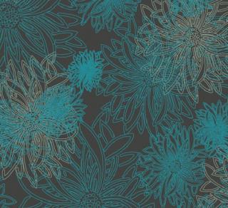 FE-505 Deep Ocean -Floral Elements コットン100%