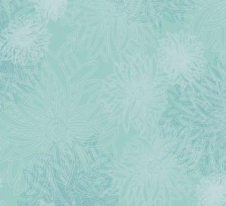 FE-508 Aqua Haze -Floral Elements コットン100%