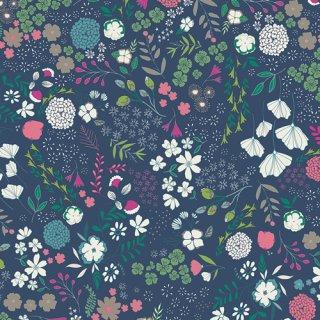 FCD-67156  Blooming Ground Luscious -Flower Child  在庫あり  コットン100%