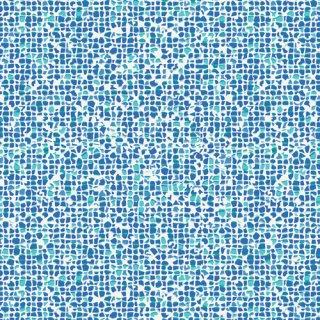 WPA-54507  Plash Mosaic Azure -West Palm【カット販売】 コットン100%