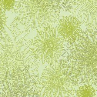 FE-521 Green Glow -Floral Elements 在庫あり コットン100%