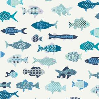 CTR-24900 School of Fish- Catch & Release 【カット販売】 コットン100%