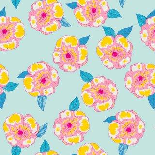 HLS-66958 Polynesian Petals- Hello Sunshine【カット販売】 コットン100%