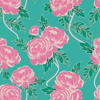 FWR-34880 Flourishing Peonies  -Flowerette  コットン100%