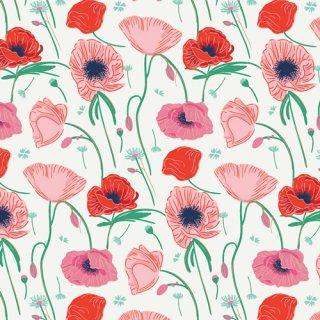 FWR-34884 Poppy Hill -Flowerette  コットン100%