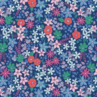 FWR-34886 Wildflower Fields -Flowerette  コットン100%