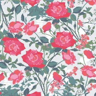 PIC-29450 Rosemantic Trellis Bright -Picturesque コットン100%