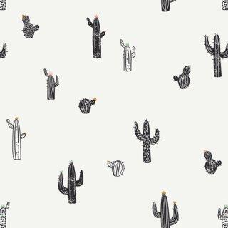 CAP-PA-1404 Cactus Stamps - CAPSULES - Pacha 【カット販売】 コットン100%