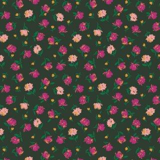 TFS-99115 Gentle Rosebuds Lunar  -The Flower Society コットン100%