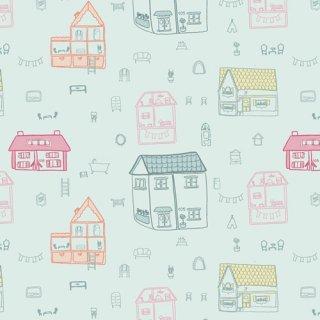 DDR-25445 Dollhouse Town -Daydream 【カット販売】 コットン100%