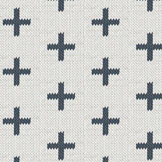 HKD-22657 Chain Stitch Crosses -Hooked 【カット販売】 コットン100%