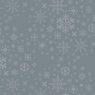 SND-65404 Ice Crystals - Snow Day 【カット販売】 コットン100%