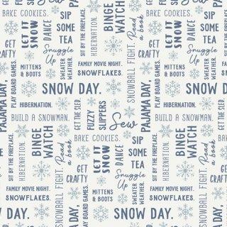 SND-65410  Snowbound - Snow Day 【カット販売】 コットン100%