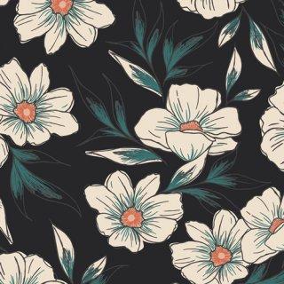 LUL-28500 Tinted Blooms - Luna & Laurel 【カット販売】 コットン100%