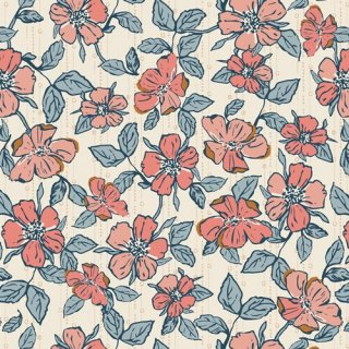 HMB-34957 Crafted Blooms Vanilla - Homebody コットン100%【カット販売】 コットン100%