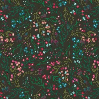 TFS-99105 Windswept Nocturnal  -The Flower Society 【カット販売】コットン100%