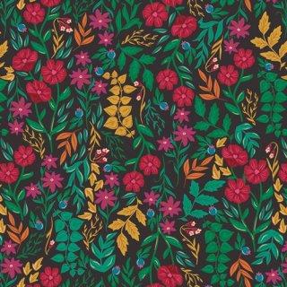 TFS-99114 Luminous Floriculture  -The Flower Society 【カット販売】コットン100%