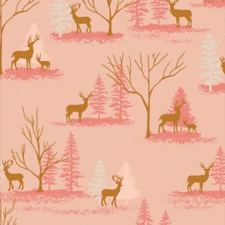 <img class='new_mark_img1' src='https://img.shop-pro.jp/img/new/icons3.gif' style='border:none;display:inline;margin:0px;padding:0px;width:auto;' />CMA-25127 Deer in Winterland -Cozy & Magical コットン100%