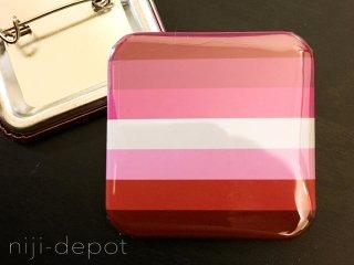 スクエア缶バッジ(レズビアンカラー)