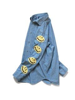 KAPITAL(キャピタル)シャンブレー ワークシャツ(スマイル刺繍)
