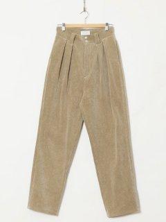 HOLIDAY / CORDUROY TUCK PANTS・BEIGE
