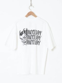 <img class='new_mark_img1' src='https://img.shop-pro.jp/img/new/icons6.gif' style='border:none;display:inline;margin:0px;padding:0px;width:auto;' />HOLIDAY /SUPER FINE DRY POCKET T-SHIRT(SPELL3)WHITE 21ss
