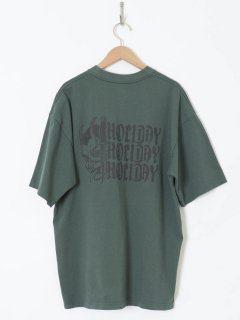 <img class='new_mark_img1' src='https://img.shop-pro.jp/img/new/icons6.gif' style='border:none;display:inline;margin:0px;padding:0px;width:auto;' />HOLIDAY /SUPER FINE DRY POCKET T-SHIRT(SPELL3)GREEN 21ss
