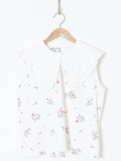 <img class='new_mark_img1' src='https://img.shop-pro.jp/img/new/icons6.gif' style='border:none;display:inline;margin:0px;padding:0px;width:auto;' />HOLIDAY /SUPER FINE DRY PURITAN COLLAR BLOUSE(FLOWER) 21ss