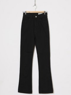 <img class='new_mark_img1' src='https://img.shop-pro.jp/img/new/icons6.gif' style='border:none;display:inline;margin:0px;padding:0px;width:auto;' />HOLIDAY /HIGH WAIST SKINNY FLARE DENIM PANTS  BLACK 21ss
