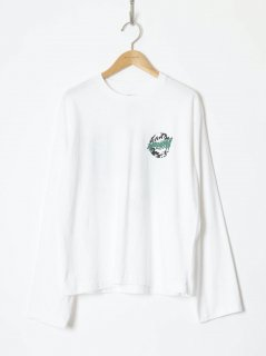 <img class='new_mark_img1' src='https://img.shop-pro.jp/img/new/icons6.gif' style='border:none;display:inline;margin:0px;padding:0px;width:auto;' />HOLIDAY / SUPER FINE L/S T-SHIRT (CIRCLE LOGO) WHITE  21aw
