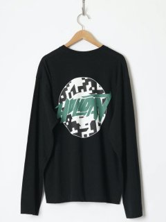 <img class='new_mark_img1' src='https://img.shop-pro.jp/img/new/icons6.gif' style='border:none;display:inline;margin:0px;padding:0px;width:auto;' />HOLIDAY / SUPER FINE L/S T-SHIRT (CIRCLE LOGO) BLACK  21aw