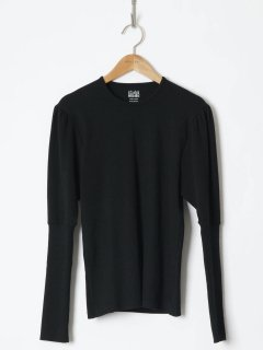 <img class='new_mark_img1' src='https://img.shop-pro.jp/img/new/icons6.gif' style='border:none;display:inline;margin:0px;padding:0px;width:auto;' />HOLIDAY / SUPER RIB PUFF L/S TOPS  (BLACK) 21aw