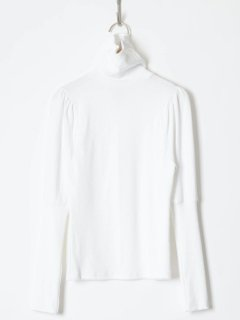 <img class='new_mark_img1' src='https://img.shop-pro.jp/img/new/icons6.gif' style='border:none;display:inline;margin:0px;padding:0px;width:auto;' />HOLIDAY / SUPER RIB PUFF HIGH-NECK TOPS  (WHITE) 21aw
